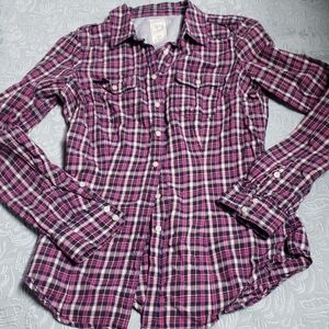 💙 5 for $16-Garage plaid top